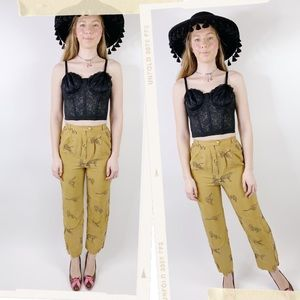 Vintage 80s Cheetah Print High Waisted Trousers